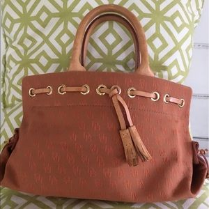 - DOONEY & BOURKE Rust Satchel Tassel…